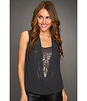 Robbi & Nikki - Pleated Contrast Sequins Top