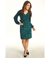 Donna Morgan - Addison II Long Sleeve V-Neck Side Tie Dress