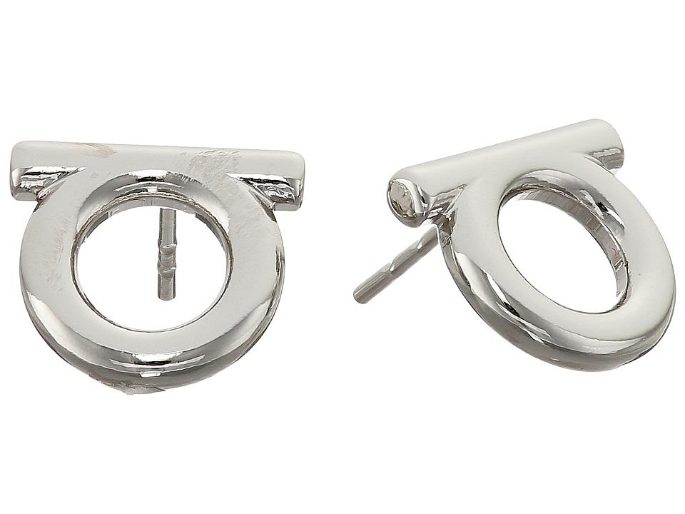 Salvatore Ferragamo Brand Stud Earrings Lucido Earring