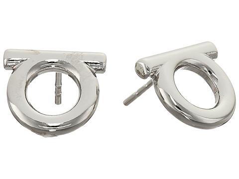 Salvatore Ferragamo Brand Stud Earrings