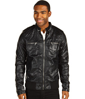 Marc Ecko Cut & Sew - Washed Faux Leather Moto Jacket