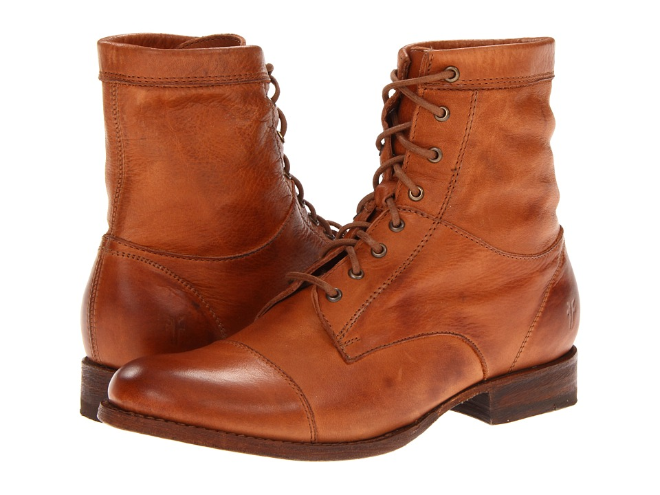 Frye - Erin Workboot Whiskey Soft Vintage Leather Womens Lace-up Boots $268.00 AT vintagedancer.com