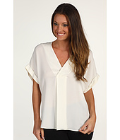 Halston Heritage - Short Sleeve Wrap Front Top