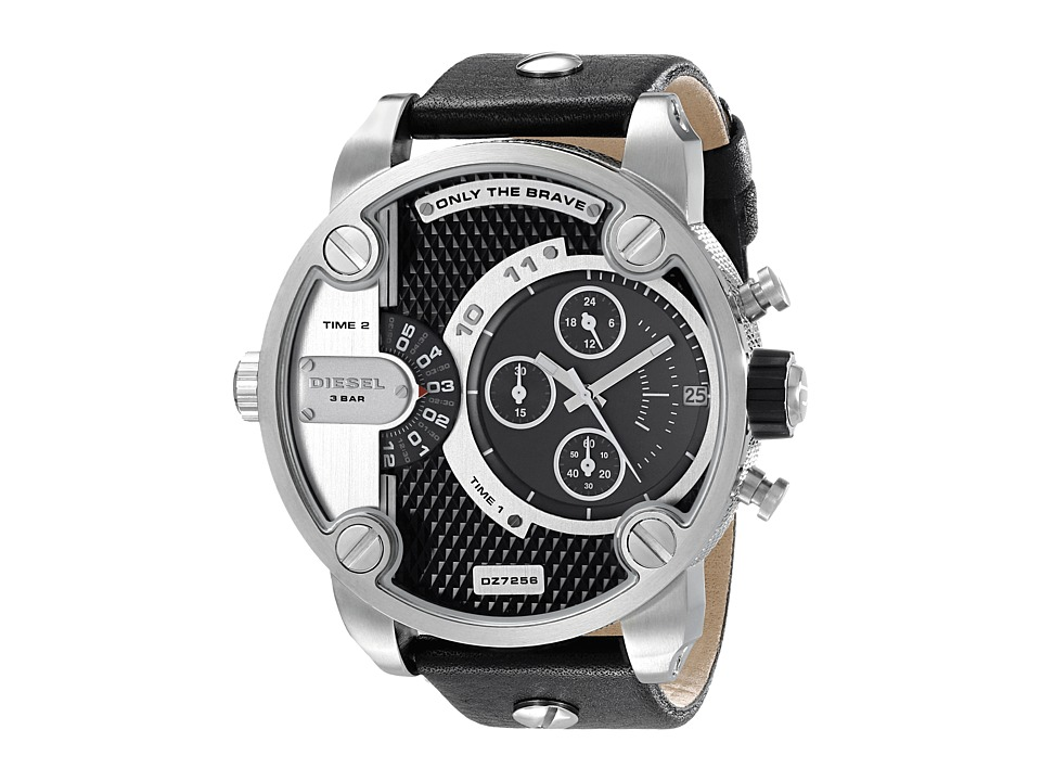 Diesel - Little Daddy DZ7256 (Silver/Black) Analog Watches