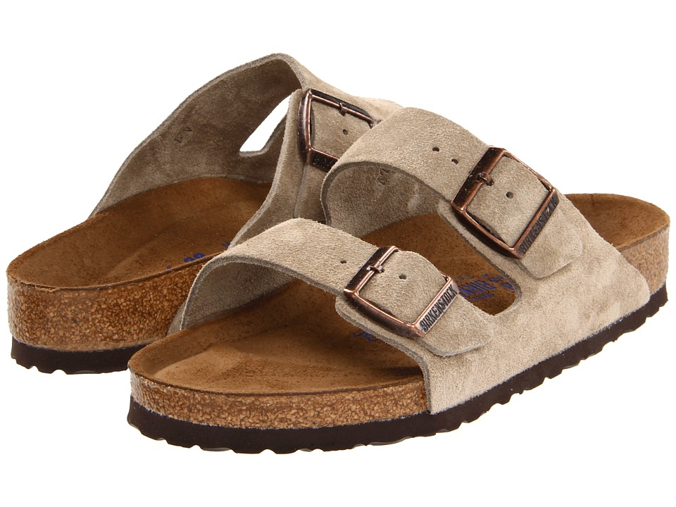 Birkenstock - Arizona Soft Footbed - Suede (Unisex) (Taupe Suede) Sandals
