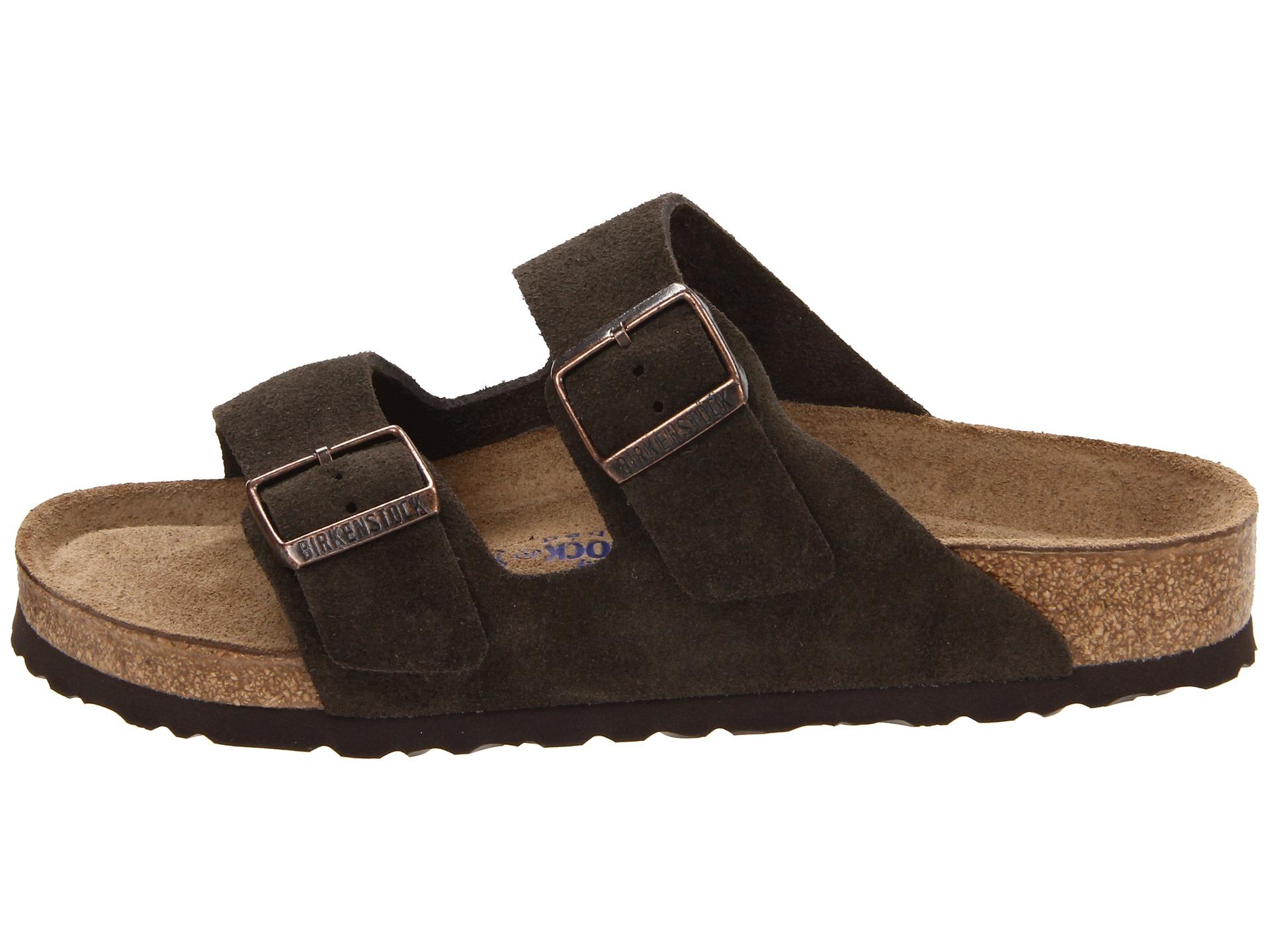 birkenstock arizona mocha suede with soft footbed