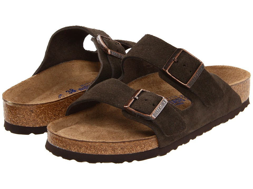 Birkenstock Arizona Soft Footbed Suede (Unisex) (Mocha Suede) Sandals