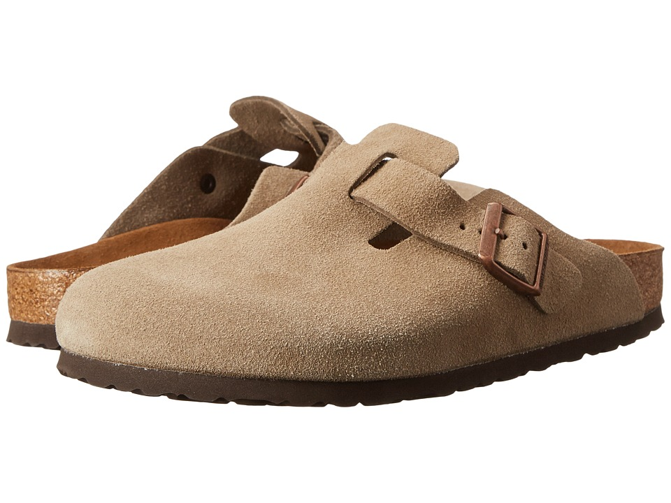 Birkenstock - Boston Soft Footbed (Unisex) (Taupe Suede) Clog Shoes