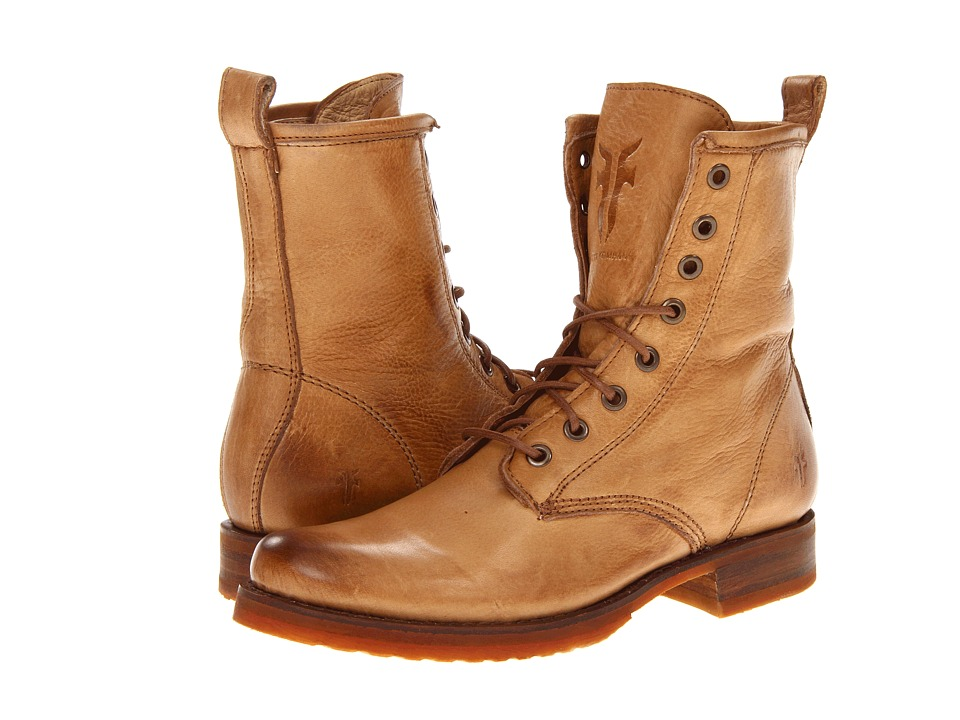 Frye Veronica Combat (Camel Soft Vintage Leather)