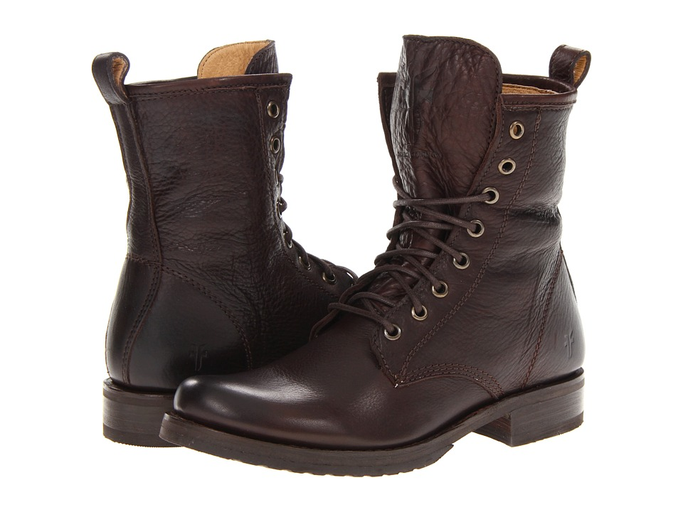 Frye Veronica Combat (Dark Brown Soft Vintage Leather)