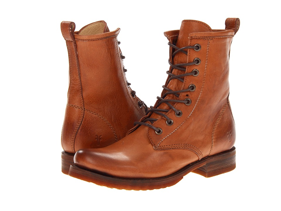 Frye Veronica Combat (Whiskey Soft Vintage Leather) Women