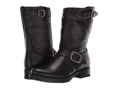 Shop Frye online and buy Frye Veronica Shortie Black Soft Vintage Leather Shoes - Frye - Veronica Shortie (Black Soft Vintage Leather) - Footwear: Style, comfort and quality - this boot has it all. ; Leather toe and shaft with buckle details. ; Leather cushioned insole. ; Stacked wood heel with rubber tap. ; Imported. Measurements: ; Heel Height: 1 in ; Weight: 1 lb 3 oz ; Circumference: 13 in ; Shaft: 8 1 2 in ; Product measurements were taken using size 9.5, width B - Medium. Please note that measurements may vary by size.