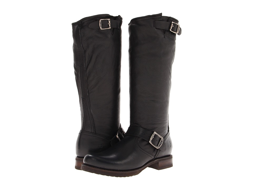 Frye Veronica Slouch (Black Soft Vintage Leather) Women's Pull-on Boots
