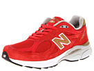 New Balance W990v3 NYC Barbados Cherry, White Shoes
