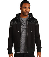 Marc Ecko Cut & Sew - Faux Leather Overlay Hoodie