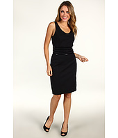 MICHAEL Michael Kors - Solid Ponte Sleeveless Scoopneck Dress