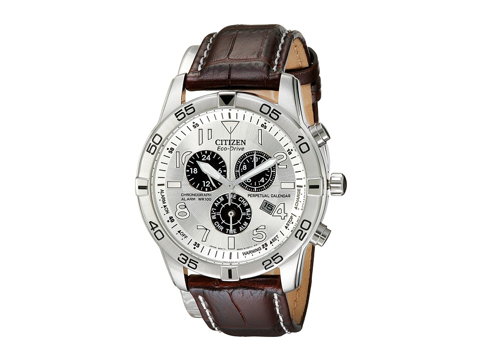 Citizen Watches - BL5470-06A Eco-Drive Stainless Steel Perpetual Calendar Chronograph Watch (Silver Tone Stainless Steel) Chronograph Watches