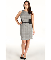 MICHAEL Michael Kors - YD Glen Plaid Sleeveless Faux Leather Woven Dress