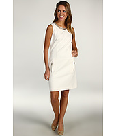 Laundry by Shelli Segal - Ponte With Chain Neck Sheath Dress
