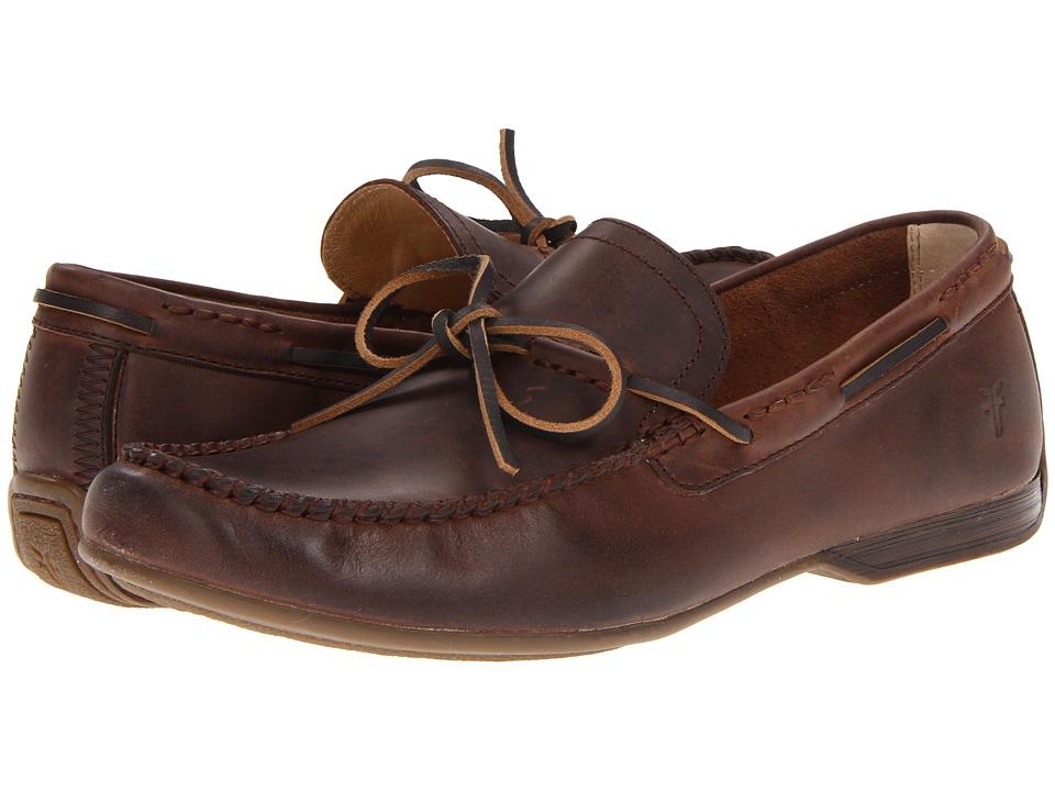 Frye - Lewis Tie (Dark Brown Antique Pull Up) Men
