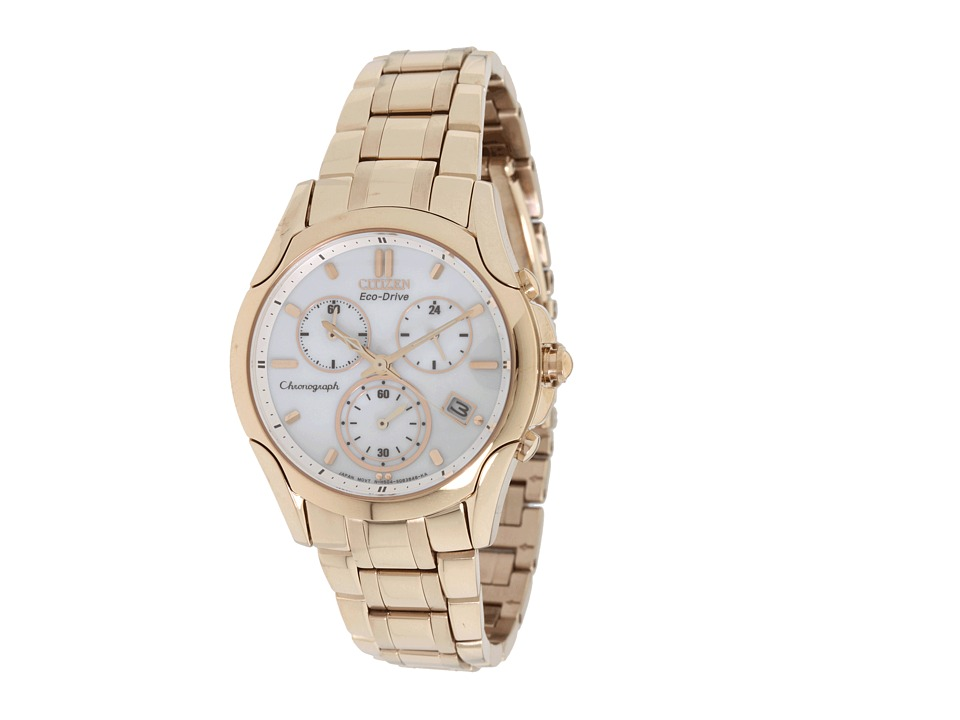 Citizen Watches - FB1153-59A Eco-Drive Rose Gold Tone Chronograph Watch (Rose Gold Tone Stainless Steel) Analog Watches