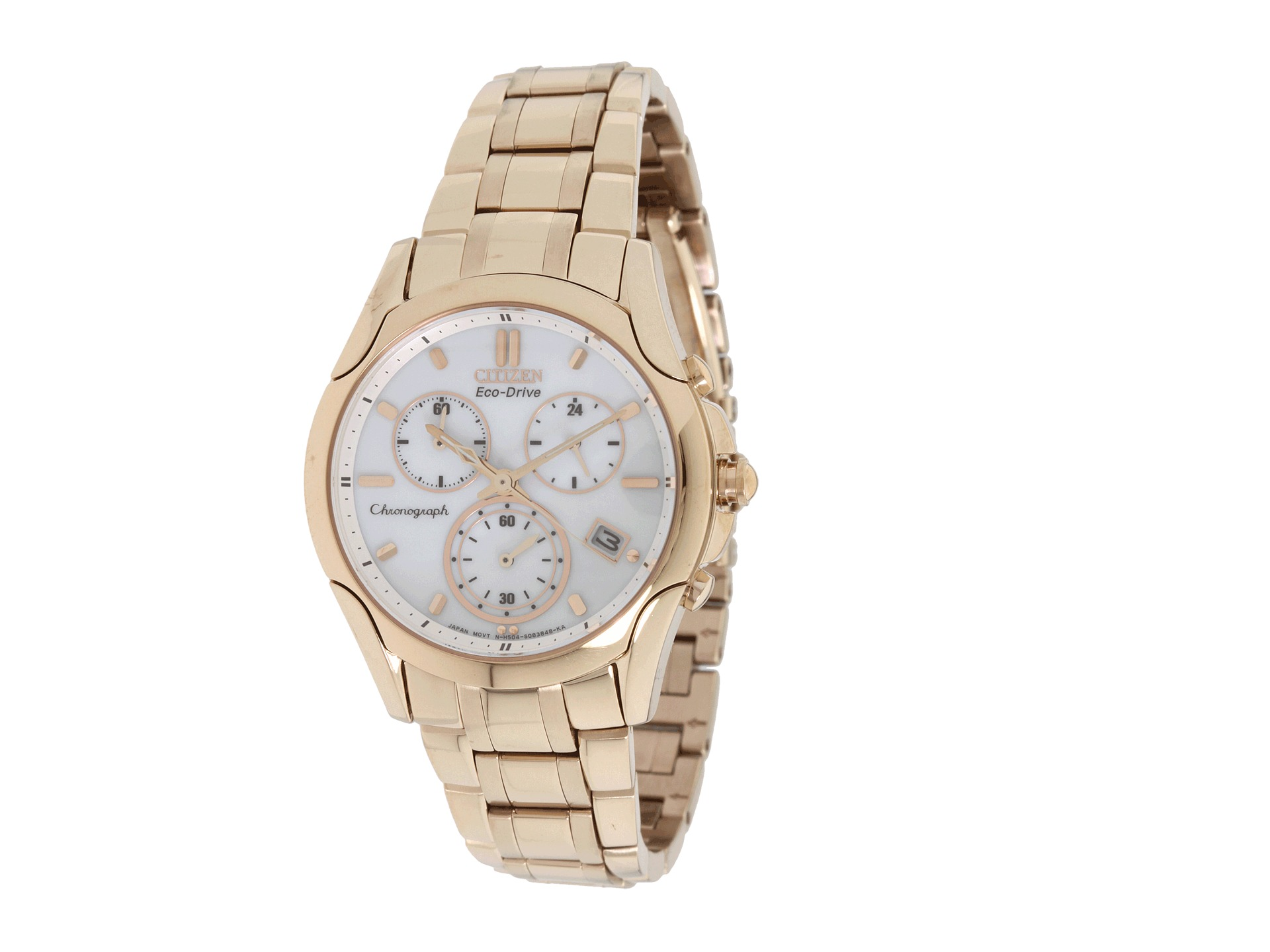 citizen watches fb1153 59a eco drive gold tone