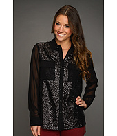 Kensie - Sequin Button Up
