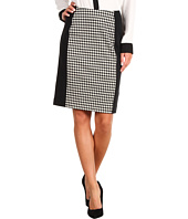 MICHAEL Michael Kors - Houndstooth Print Ponte Paneled Pencil Skirt