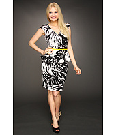 Maggy London - Printed Scuba Swirley Placement Dress