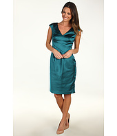 Maggy London - Satin Cap Sleeve Dress with Lace Back