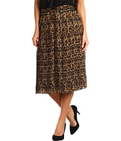 MICHAEL Michael Kors - Jaguar Print Pleated Midcalf Skirt