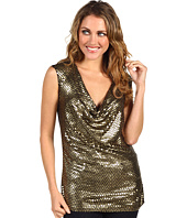 MICHAEL Michael Kors - Cap Sleeve Sequin Drape Top