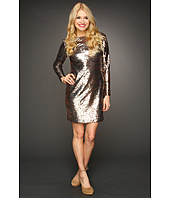 Jessica Simpson - Long Sleeve Sequin V-Back Dress