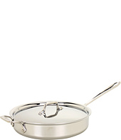All-Clad - Stainless Steel 3 Qt. Saute Pan With Lid