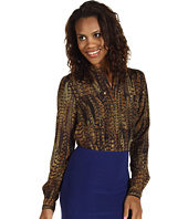 MICHAEL Michael Kors - English Pheasant Oversize Pocket Button Front Top