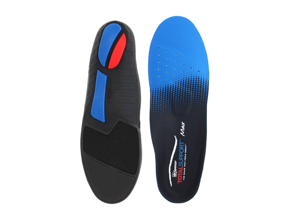 Spenco - TOTAL SUPPORTtm Max Insole (Blue/Black) Insoles Accessories Shoes