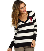 U.S. Polo Assn - Striped Long Sleeve V-Neck