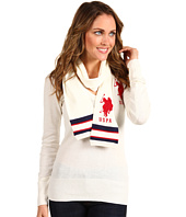 U.S. Polo Assn - Solid V-Neck with Scarf