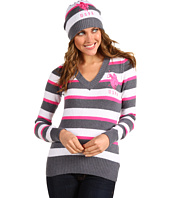U.S. Polo Assn - Mossy Stripe V-Neck with Hat
