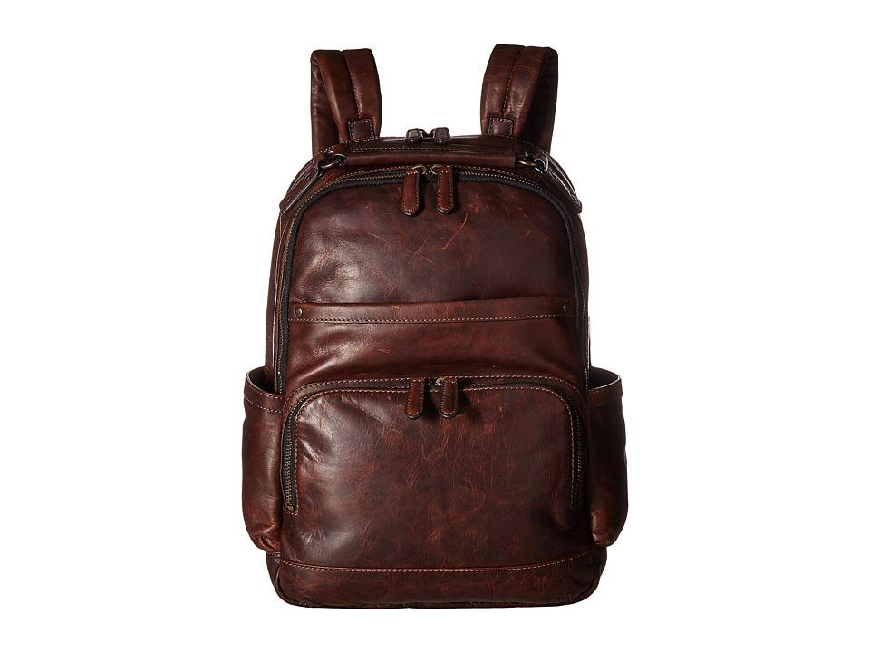 Frye - Logan Backpack (Dark Brown Antique Pull Up) Backpack Bags