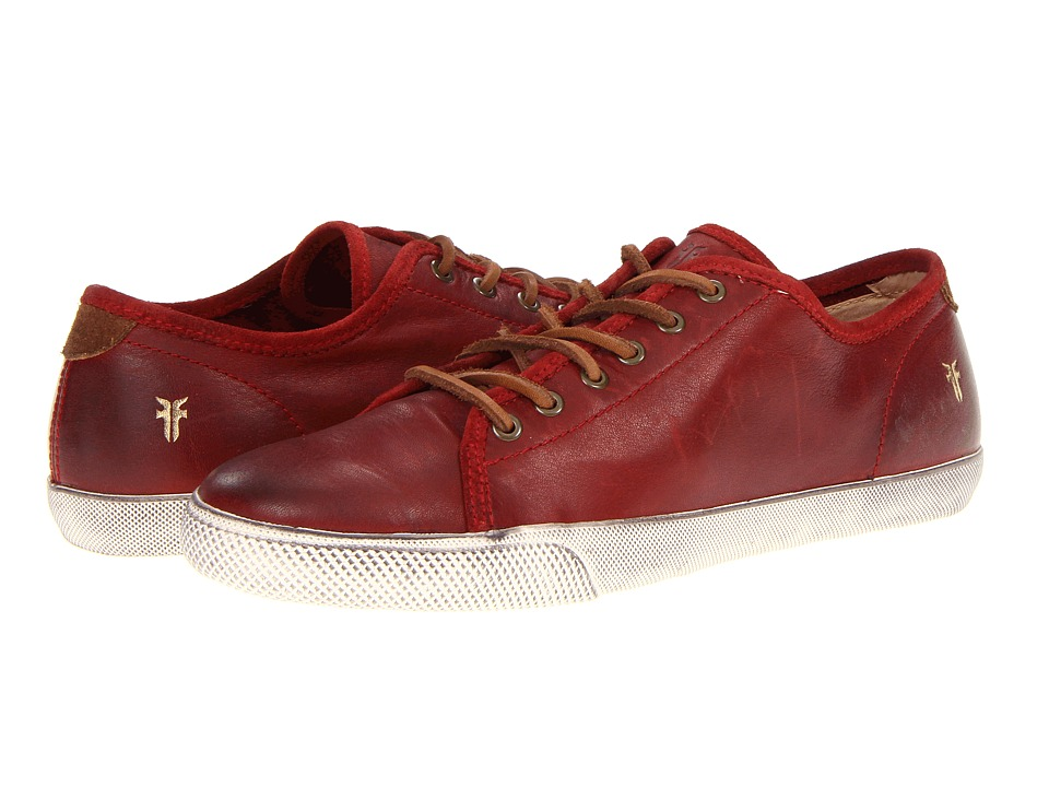 Frye Chambers Low (Burnt Red Soft Vintage Leather) Men