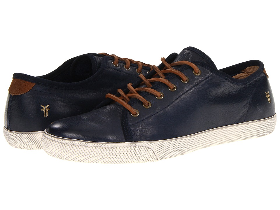 Frye Chambers Low (Navy Soft Vintage Leather) Men