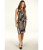 Anne Klein - Bias Stripe Print Dress