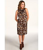 Anne Klein - Snakeskin Print Sleeveless Dress