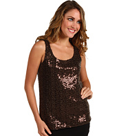 Anne Klein - Sequin Scoop Neck Tank Top