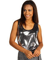 Anne Klein - Sleeveless Sequin Front Tank Top