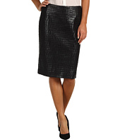 Anne Klein - Alligator Straight Skirt
