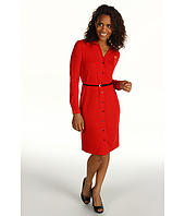 Anne Klein - L/S Belted Polo Dress