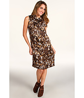 Anne Klein Petite - Petite Snakeskin Print Sleeveless Dress