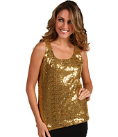 Anne Klein Petite - Petite Sequin Scoop Neck Tank Top